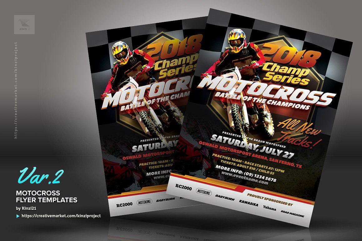 Motocross Flyer Templates Flyer Template Flyer Templates