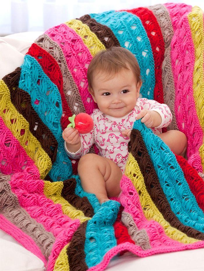 Free Knitting Pattern For Modern Lovey Blanket The Indian Cross