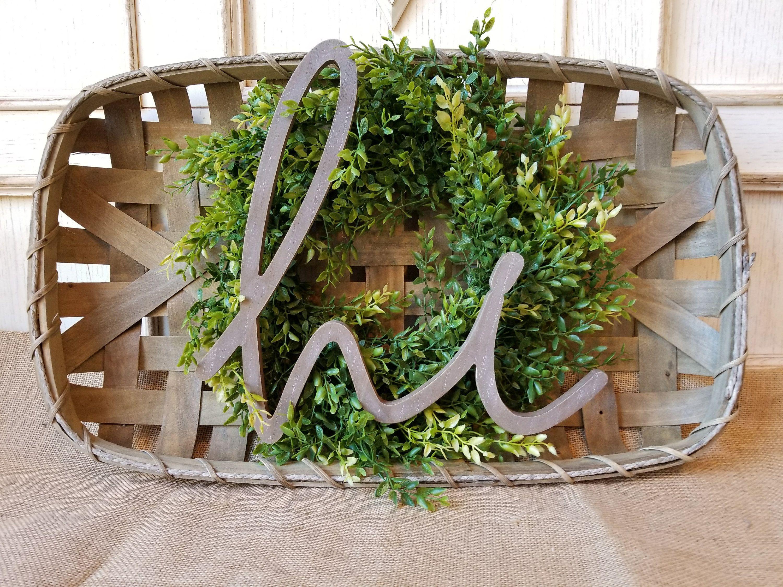 Hi Tobacco Basket with Wreath