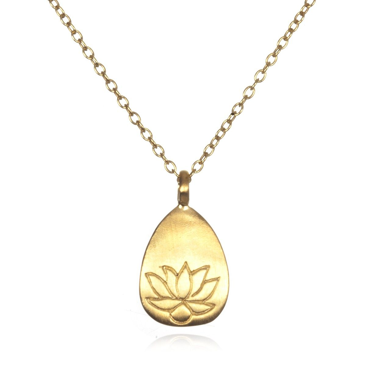 necklace pendant gold lotus icing tone us