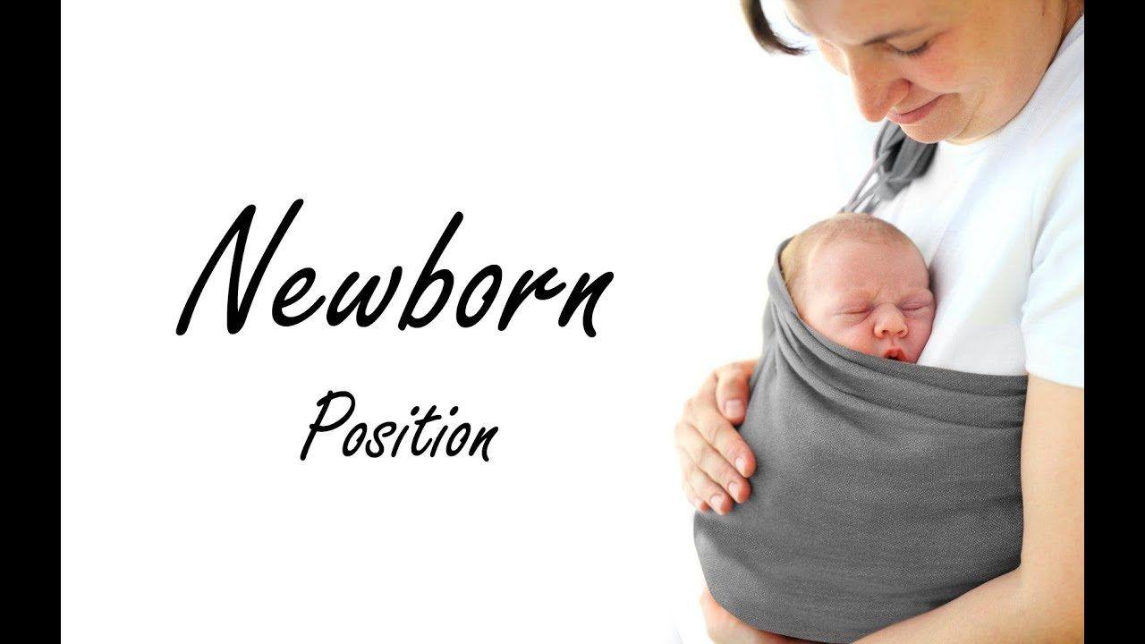 BabyWombWorld Ring Sling Newborn Position Tutorial