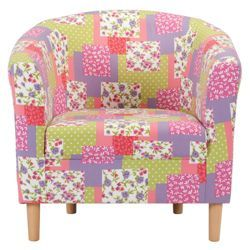 tub fabric accent chair patchwork old wooden folding chairs buy from our armchairs range tesco com