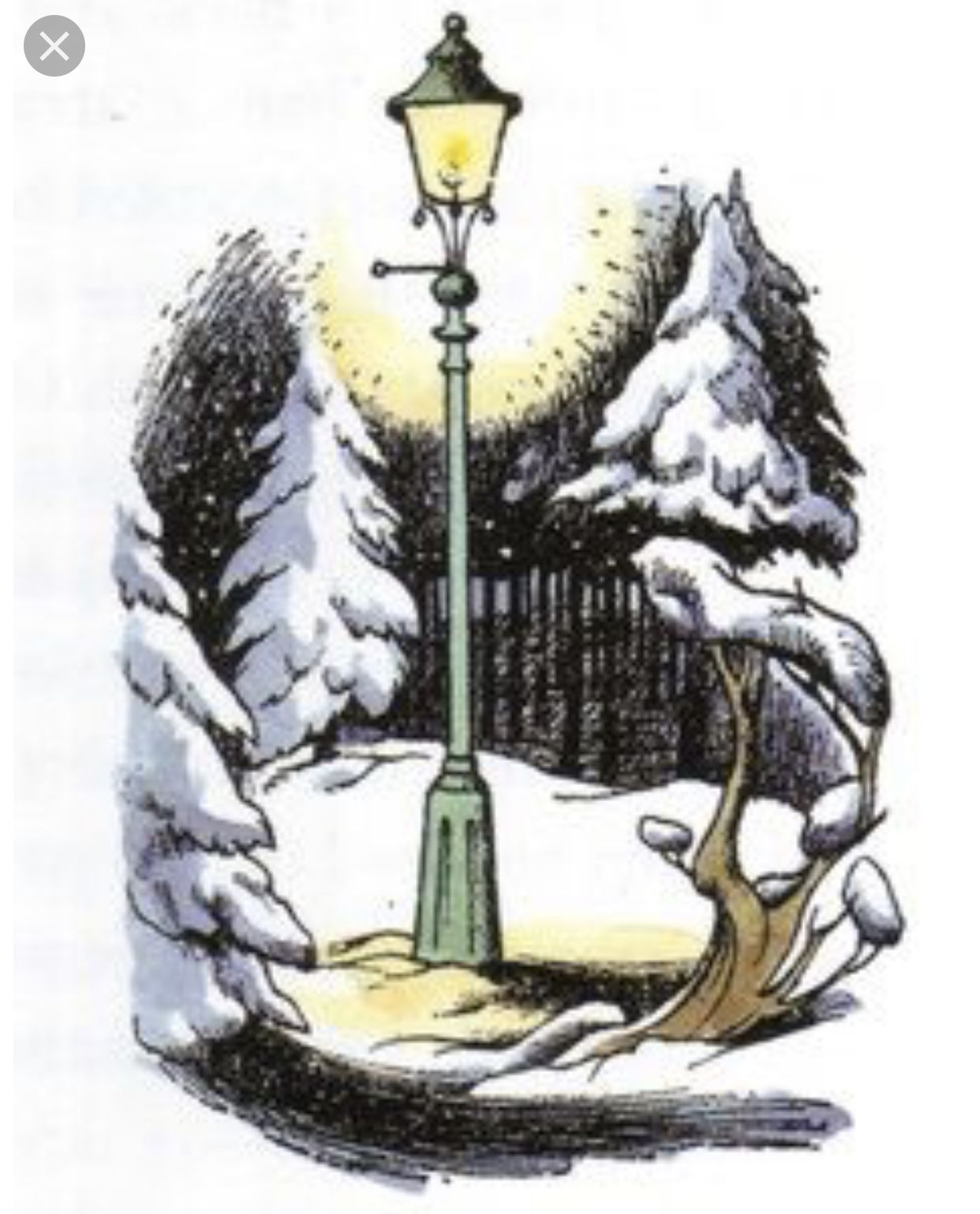 Narnia Lamppost original illustration Narnia lamp post
