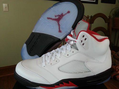 Air Jordan Retro 5 Feu Rouge Ebay