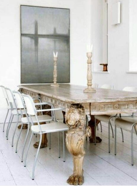 Dining Table Paired With Modern Chairs