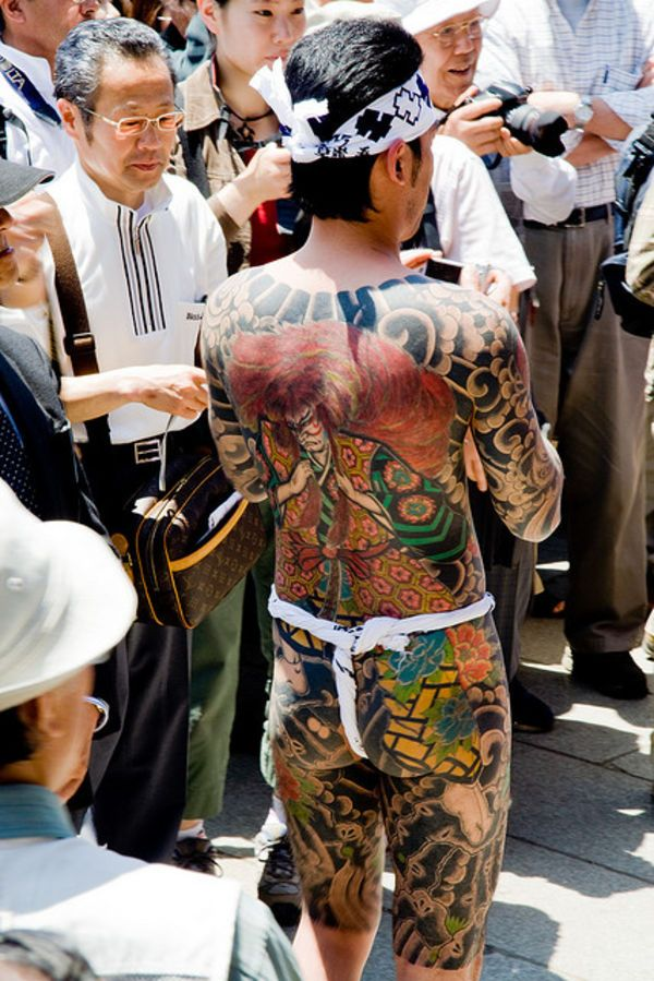 Art Talent - Yakuza in a matsuri. Yakuza tattoos are something I've always thought were considered to be the pinnacle of dedication to ...