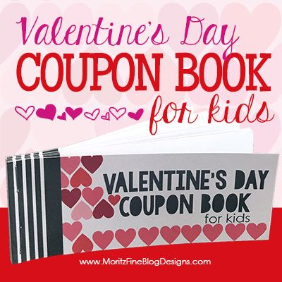 ValentineS Day Coupon Book For Kids  Simple Gifts Coupons And