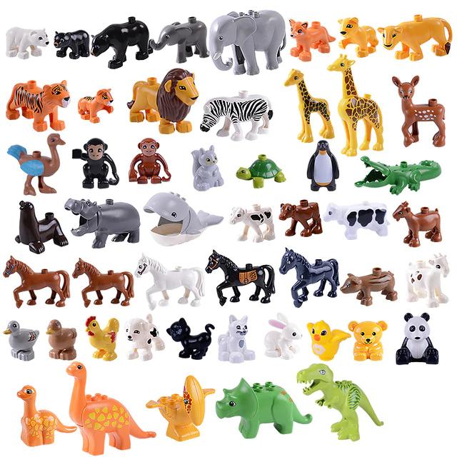 Buy Legoing Duplo Animal Figures Large Particles Educational Building Blocks Legoings Dinosaur Free Shipping Worldwide Dinomerchandise Com Animal Figures Lego Animals Educational Toys For Kids