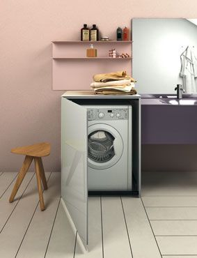 Des meubles pour faire dispara tre le lave linge for Meuble machine a laver