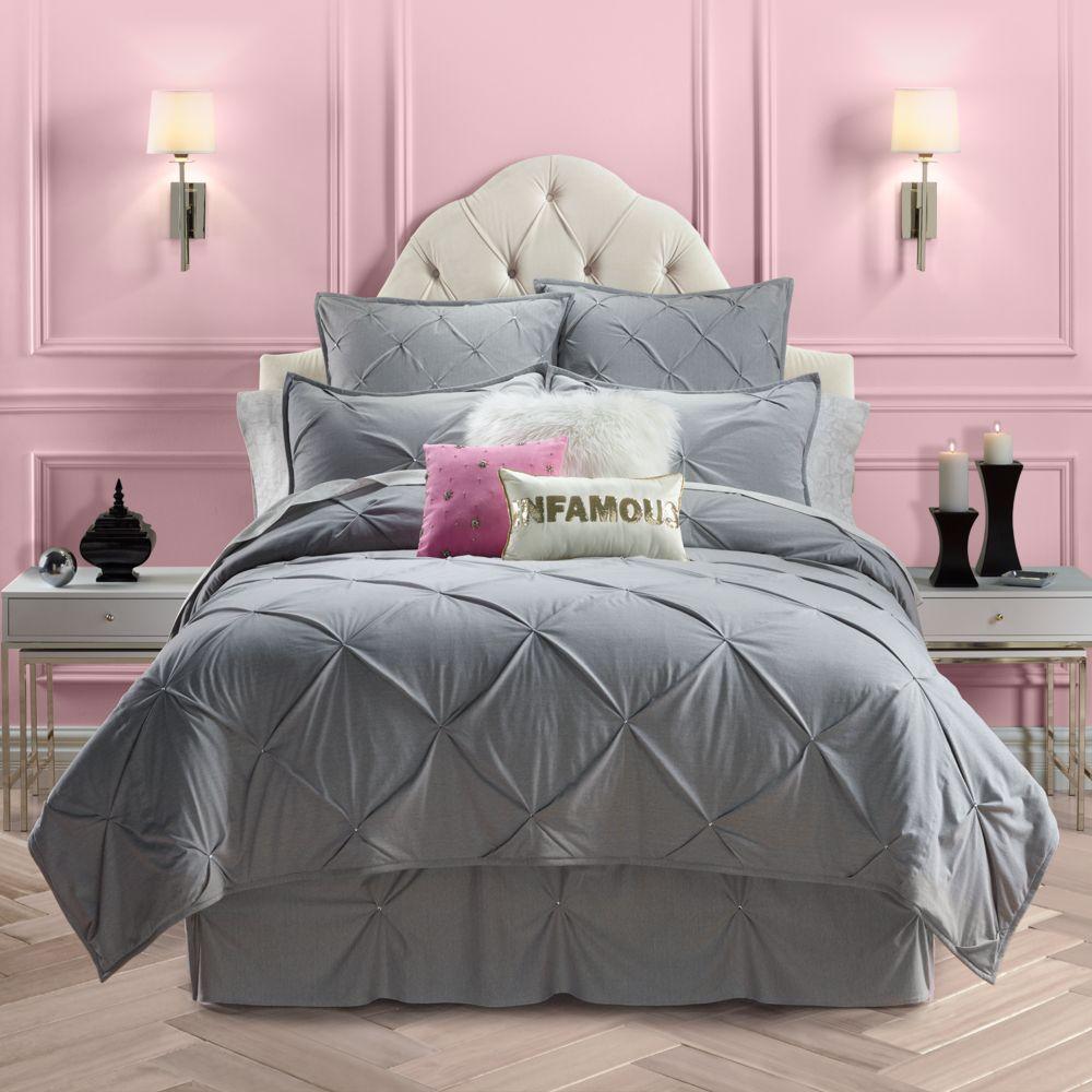 Juicy Couture Pinch Tuck Coverlet Collection Diva Bedroom Bedroom Set Queen Bedding Sets