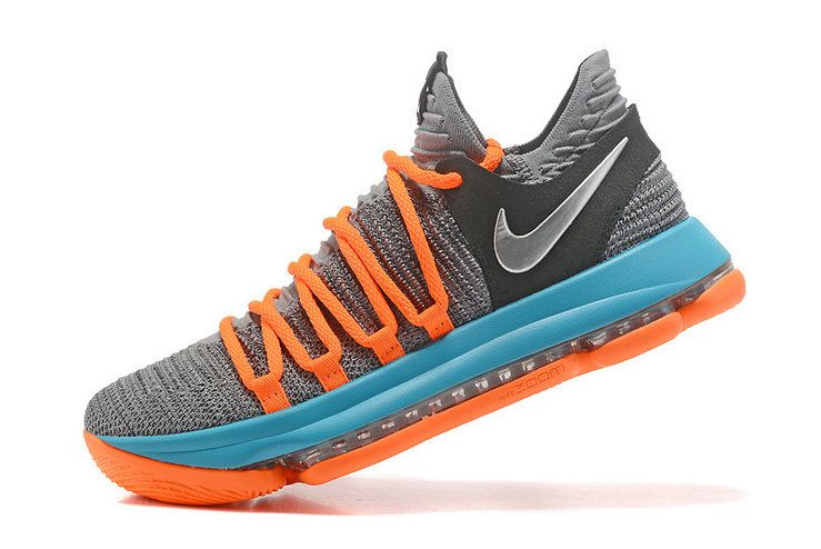 buy online 3b082 1642b Kevin Durant KD 10 X X OKC Grey Photo Blue Total Orange 2018 Cheapest