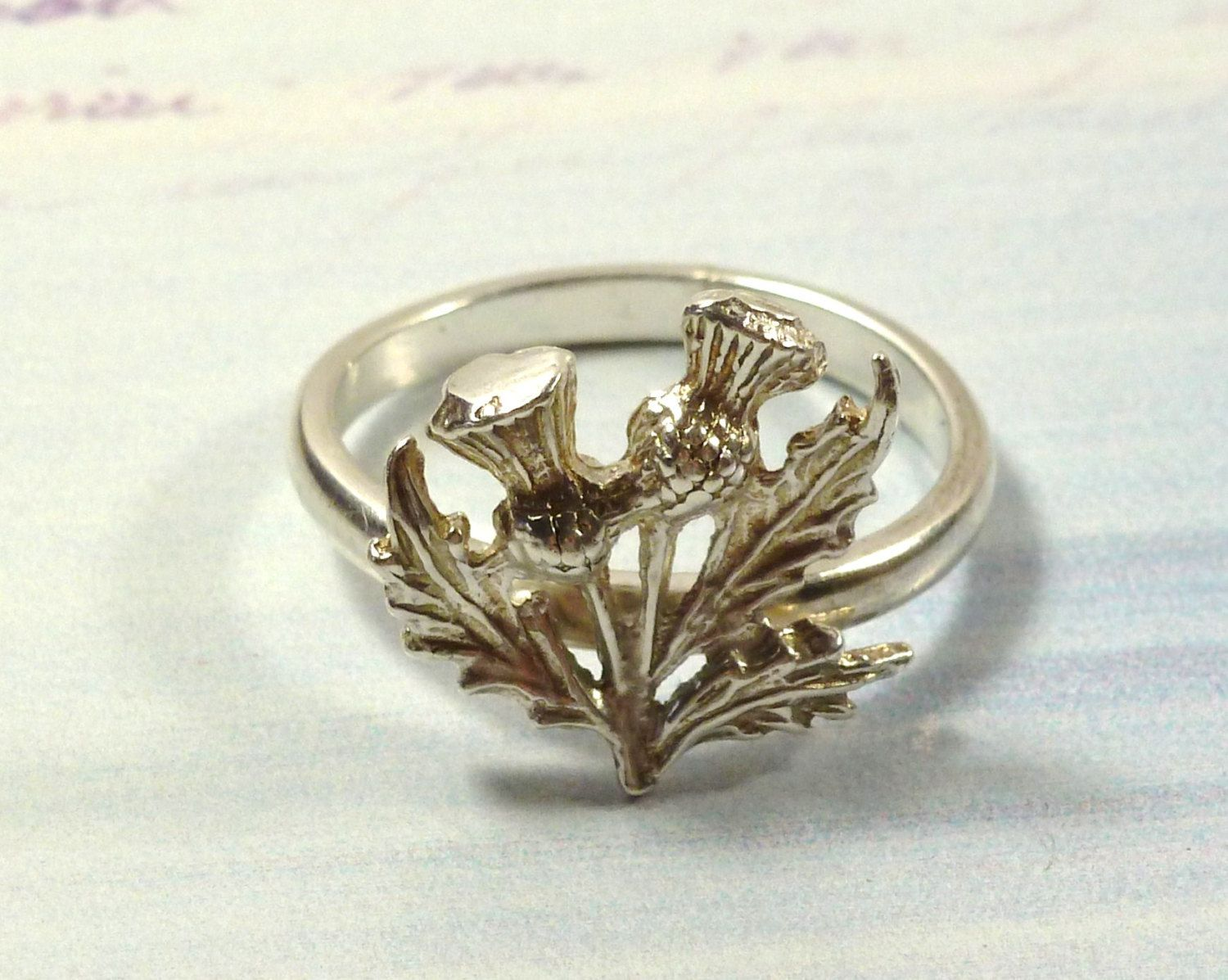 Scottish+Thistle+ReVamped+Vintage+Charm+Ring+by