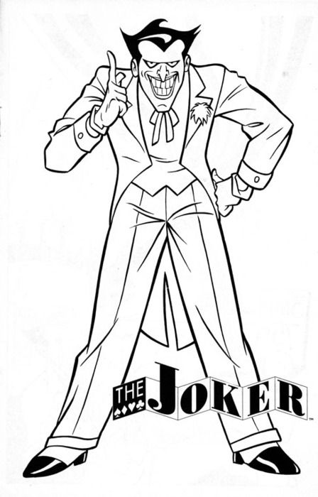 Seasonal Colouring Pages The Joker