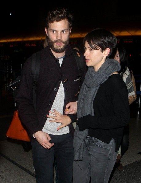 Jamie Dornan and Amelia Warner at LAX