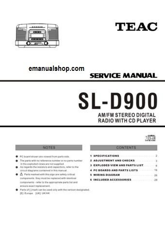 Teac Sl D900 Service Manual Download Complete Service Repair Manual And It S In Pdf Format It Contains Cir Teac Repair Manuals Manual