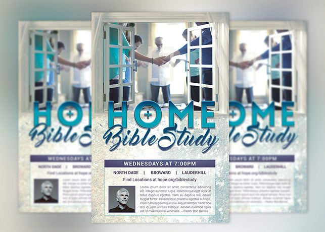 Bible Study Flyer Poster Template Is Designed In Photoshop For