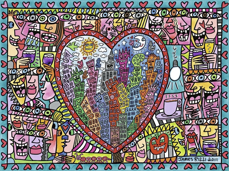 Ein Klassiker All That Love Bunt Love Liebe Rizzi Jamesrizzi Puzzle Farbe Farbenfroh Art Artist Kunst Puzzleteil James Rizzi Puzzle