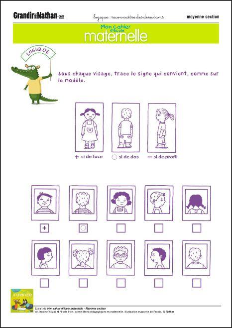 Reconnaître des directions   Jeux de logique, Logique ...