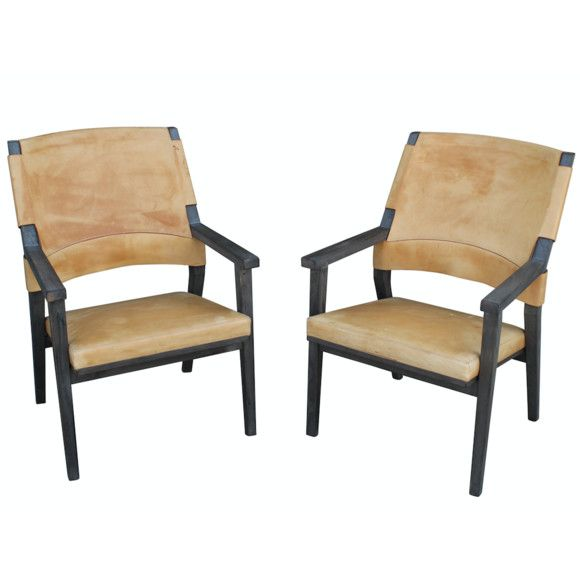 Lucca Antiques   Seating: Pair Vintage Swedish Large Leather Lounge Chairs