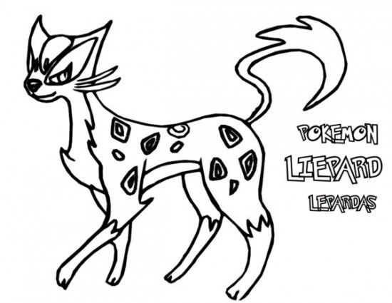 Pokemon Liepard Coloring Pages Pokemon Coloring Pages Coloring Pages Coloring Book Pages