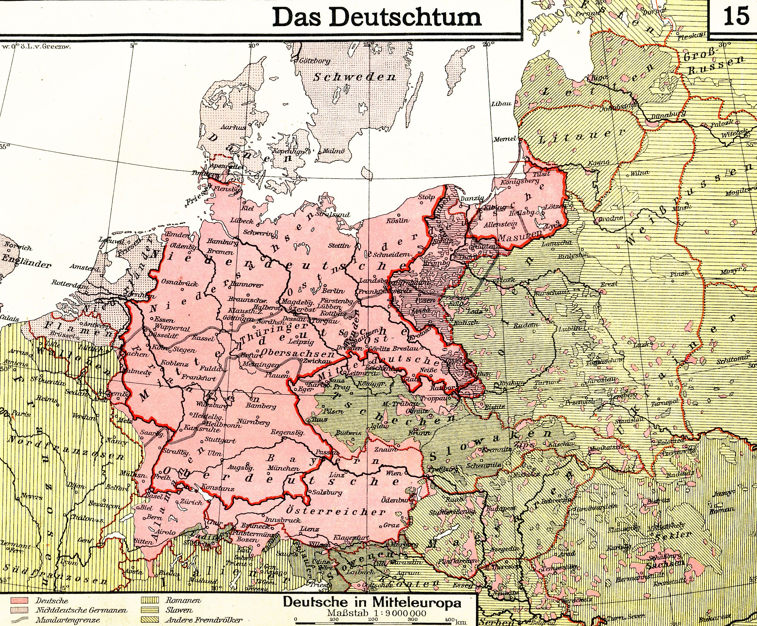 A 1930 German Map Of Ethnic Germans In Central And Eastern Europe