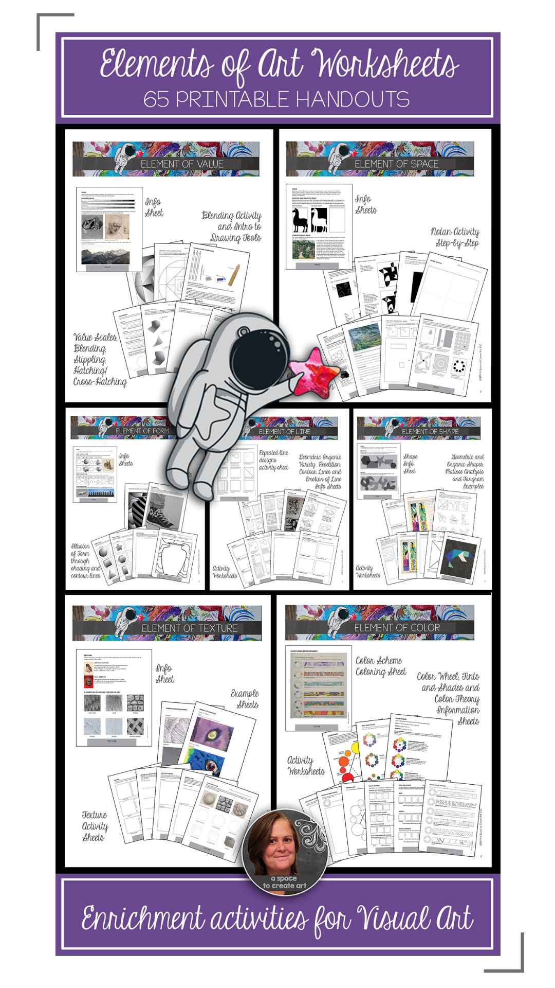 Elements Of Art Worksheets Bundle 80 Sheets