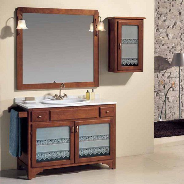 Muebles para ba o de madera mueble ba o madera maciza for Mueble de bano de diseno de madera