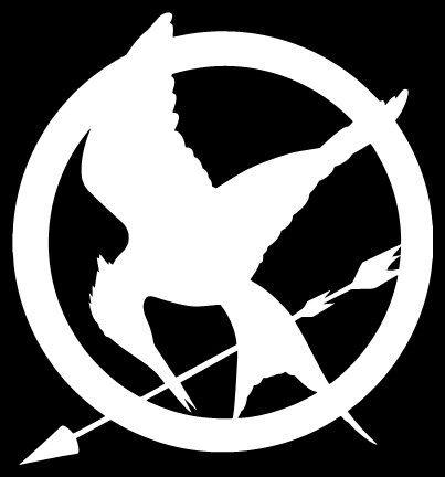 Mockingjay Logo Black And White Hunger Games inspired ...