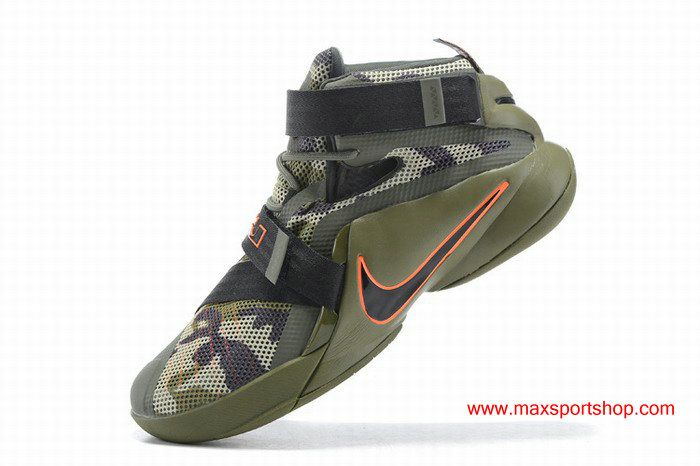 factory authentic e12b2 cc0d6 Nike LeBron Soldier 9 Camo Camouflage Highlights ArmyGreen