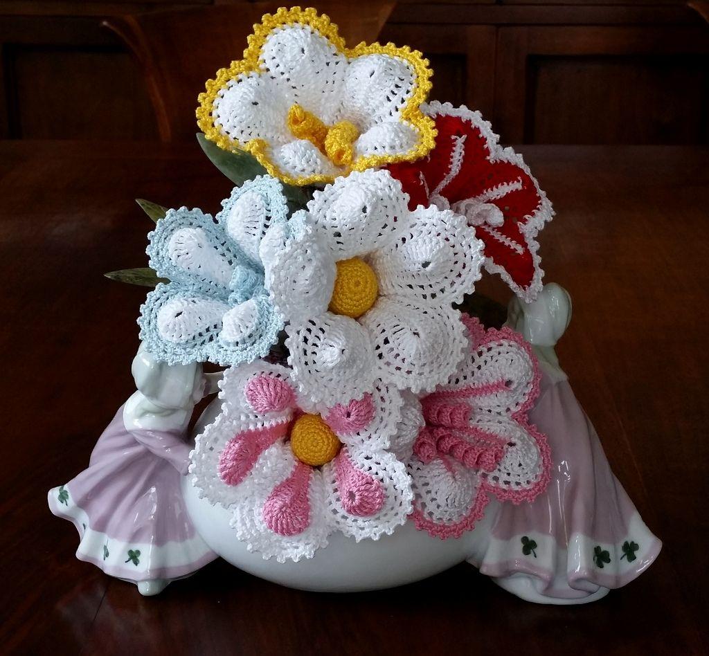 Fiori Ad Uncinetto Per Bomboniera O Segnaposto Crochet Flowers Linen Crochet