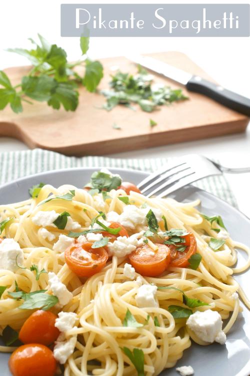Pikante Spaghetti schnell zubereitet und lecker