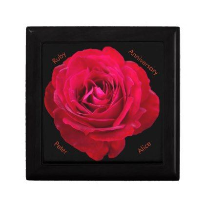Red Rose Ruby Anniversary Gift Box Wedding And Weddings