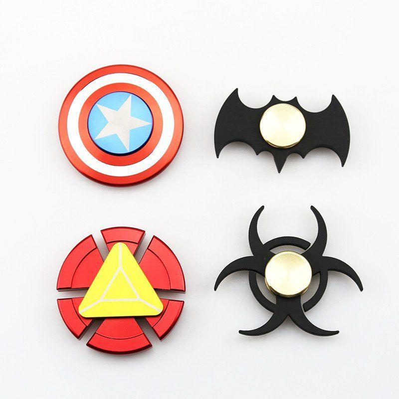 Fidget Spinner New Batman Captain America Iron Man Symbols Shape