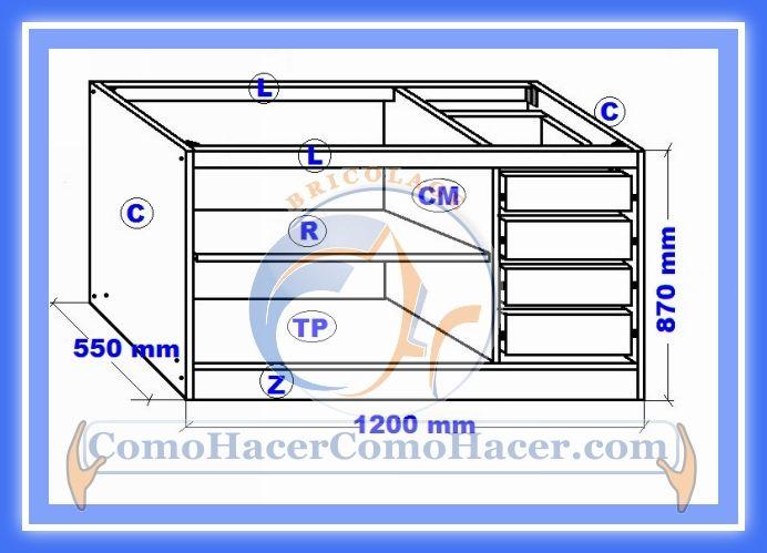 Muebles de cocina mueble bajo proyecto mueble de cocina for Muebles bajos cocina negro