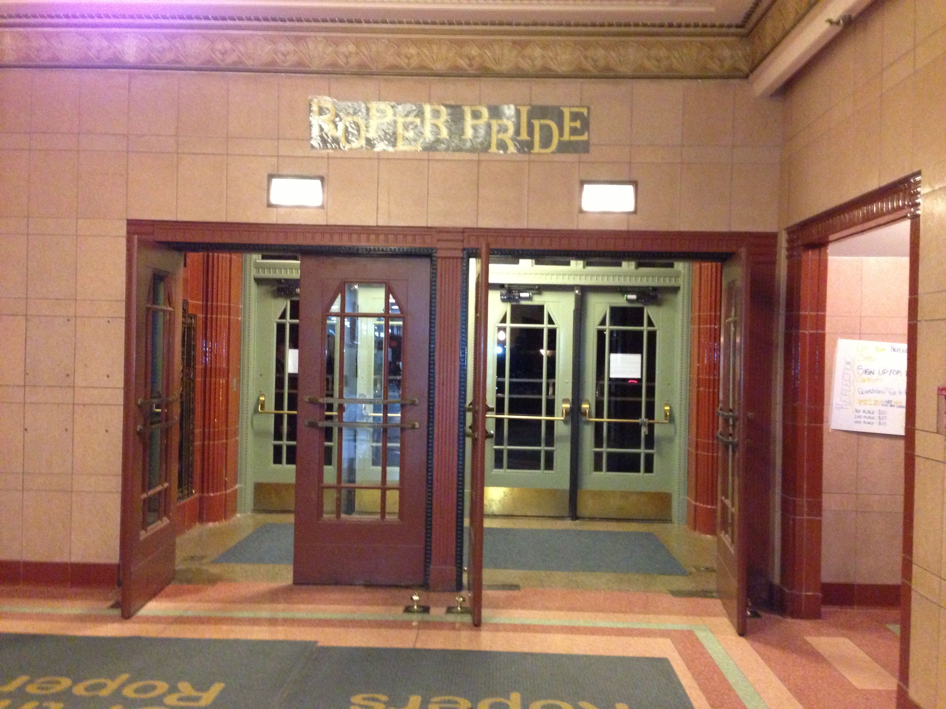 The Entrance To Senior Hall Will Rogers High School Tulsa Ok