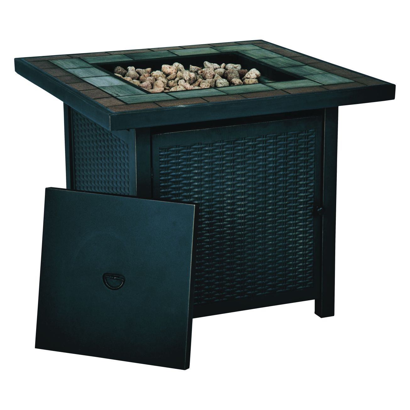 Lovely Living Accents Outdoor Fireplace Part - 11: Living Accents Square Propane Fire Pit 25 In. H X 30 In. W X 30 In. D  Steel(SRGF11626B) - Outdoor Fireplaces - Ace Hardware