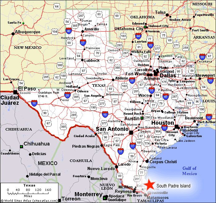 Where Is Padre Island Texas Map Texas State Map South Padre