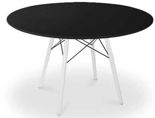 Cette table à manger ronde proposée avec un plateau en bois noir et - Hauteur Table Salle A Manger