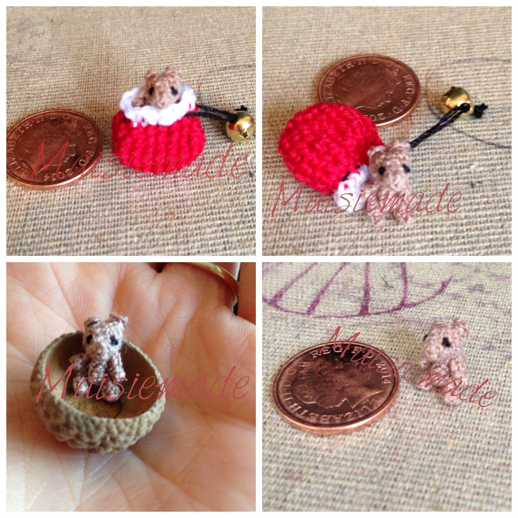 Teeny tiny crochet bear