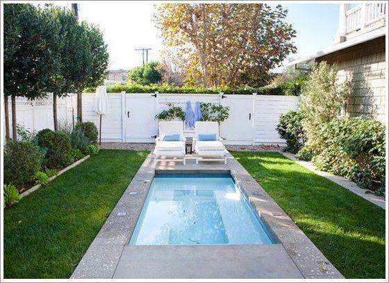 50 modelos piscina pequena para inspirar sua reforma ou for Modelos de piscinas campestres