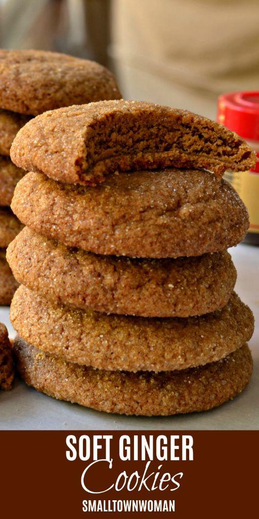 Soft Ginger Cookies #gingerbreadcookies