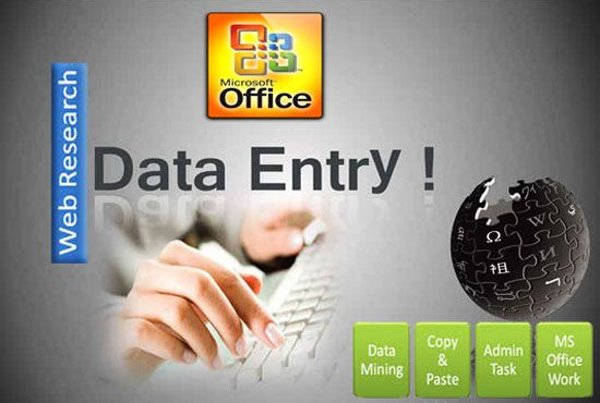 Do data entry work as a virtual assitant for $5