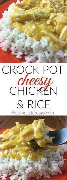 Crock Pot Cheesy Chicken and Rice images