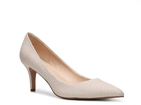 Nine West Elise Nubuck Reptile Pump | DSW