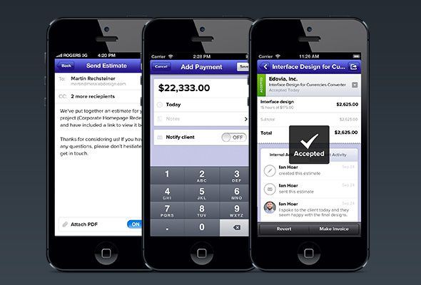 Send Invoices And Accept Payments With Ballpark Small Business CRM - Send invoice app