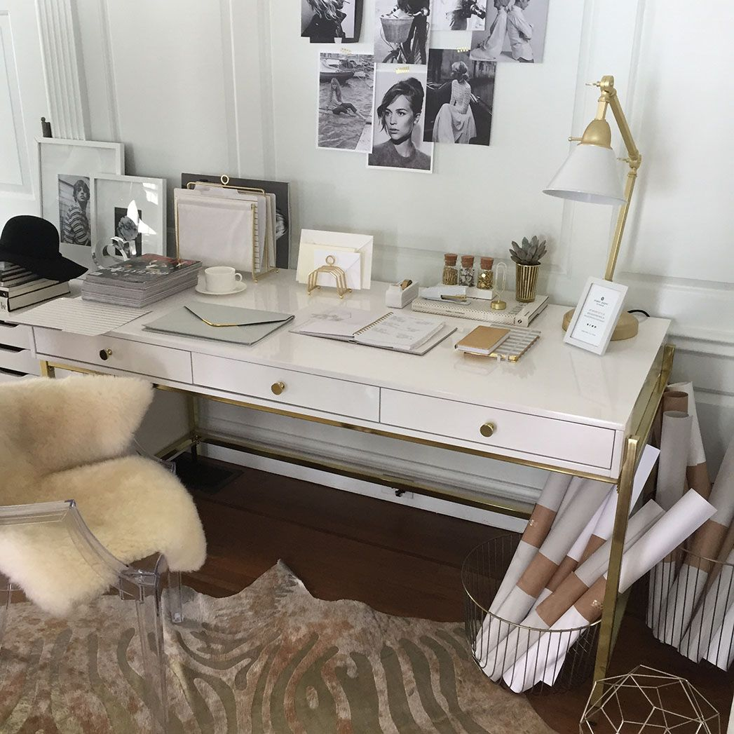 Sugar Paper S New Collab Is All About Upgrading Your Office Space Target Desk Sunroom Office Guest Room Office