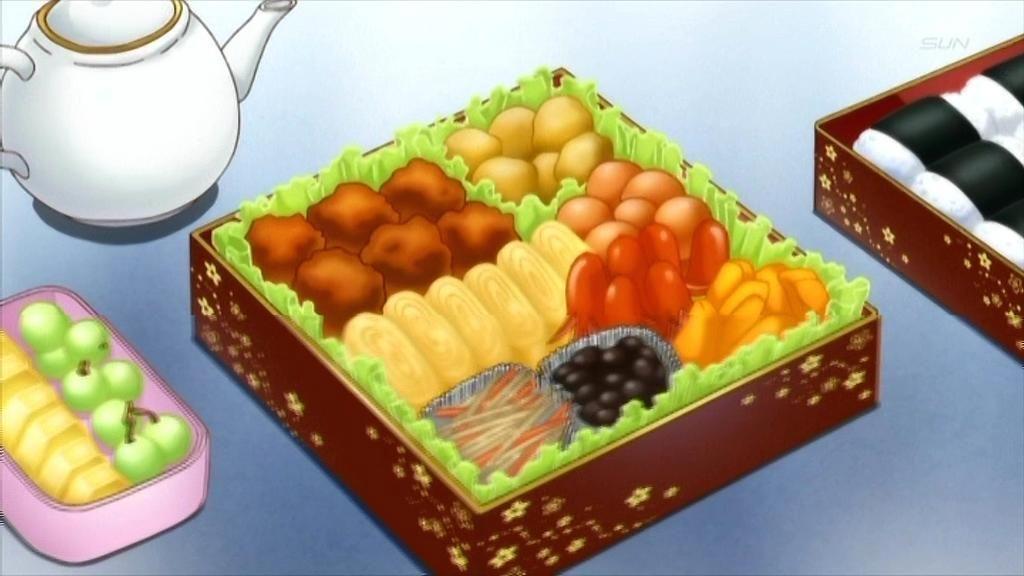 Anime food bento box meal with images anime bento