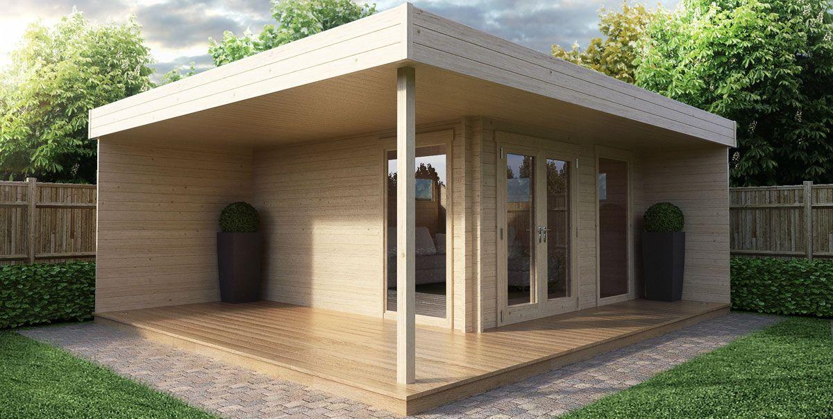 Gartenhaus Als Buro Gartenburo Schnell Und Gunstig In Der Eigenmontage Gartenhaus Mit Terrasse Gartenburo Gartenhaus Mit Veranda