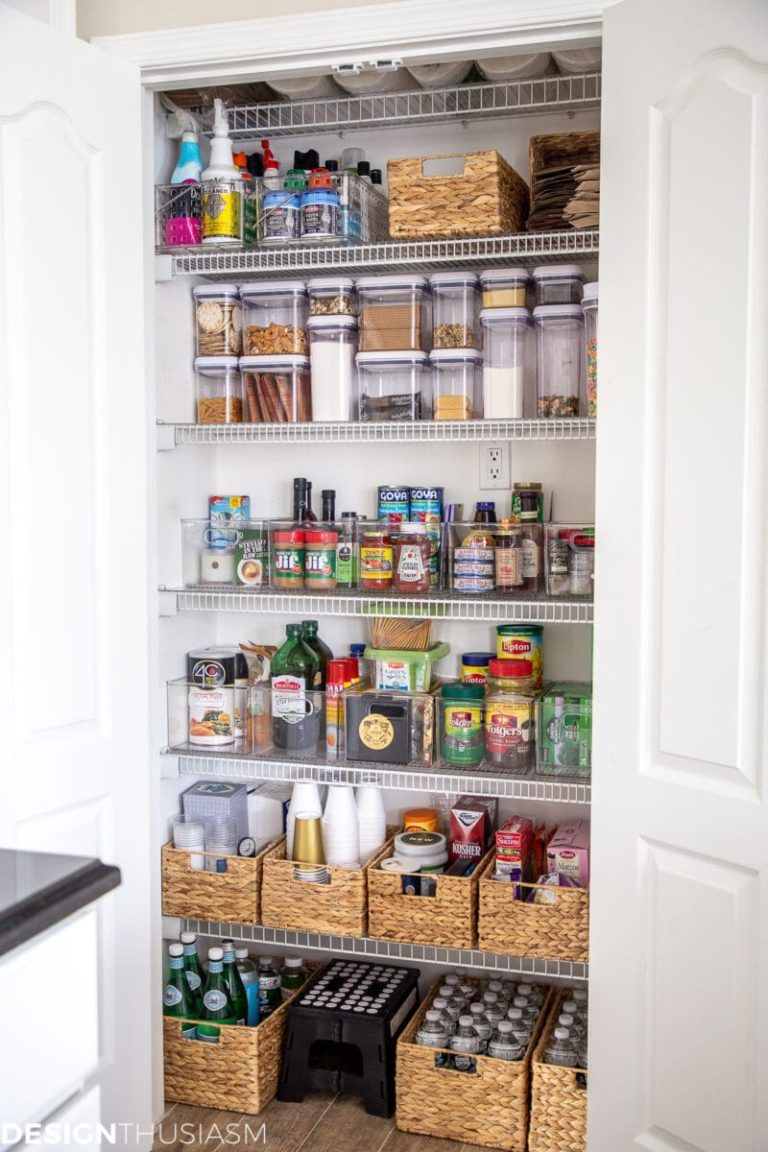 20 Diy Pantry Makeovers With Organizing Tips And Storage Ideas Fox Hollow Cottage Small Pantry Organization Pantry Remodel Kitchen Organization Pantry