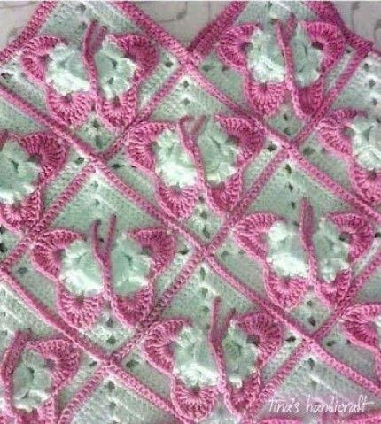 Cobija crochet en rosa | Pinterest | Cobija, Manta y Bordes de ganchillo